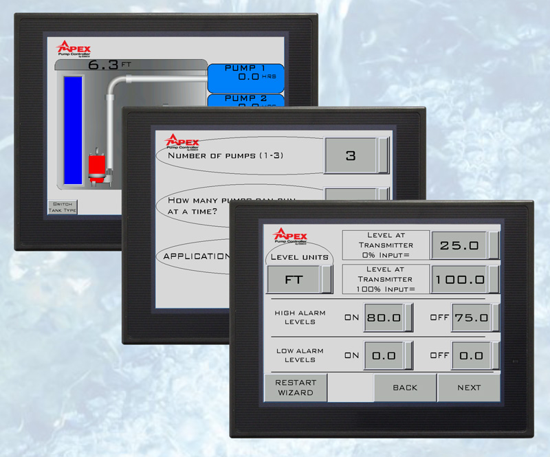 APEX Pump Controller Displays